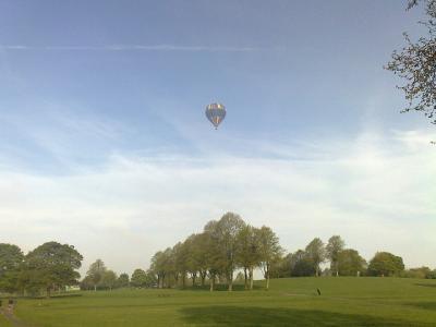 気球 風景 もや 自然