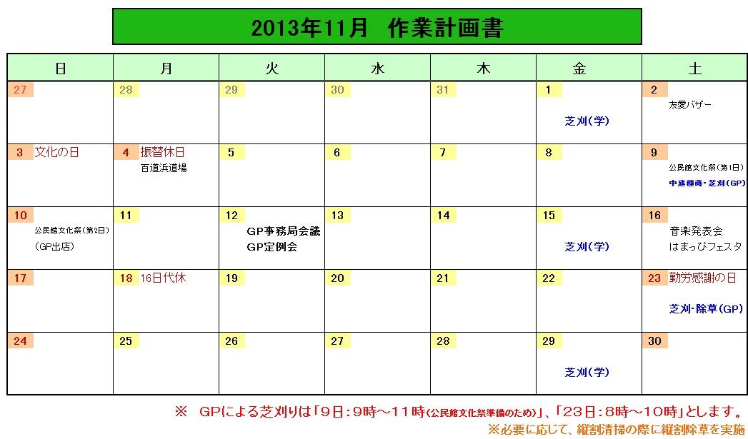 201311作業計画
