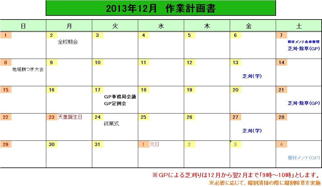 201312作業計画