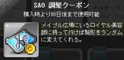 SAO調髪券