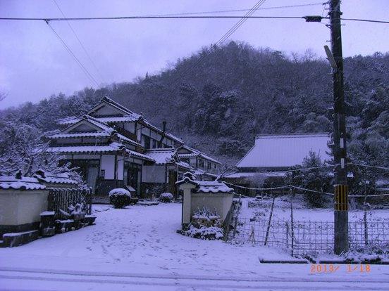 久々の積雪