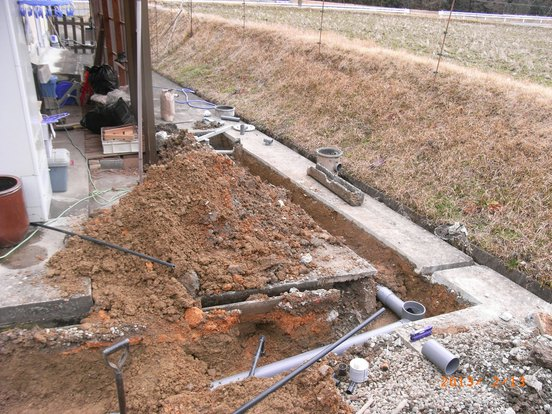 上下水道管工事