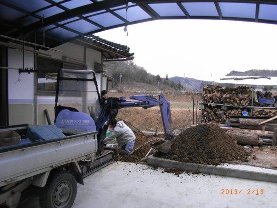 パイプ埋設