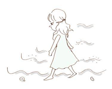 砂浜を歩く1_R