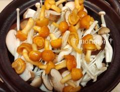 牛肉と茸の韓国風鍋-2