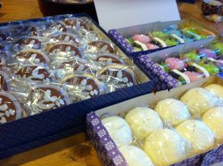 お菓子3種