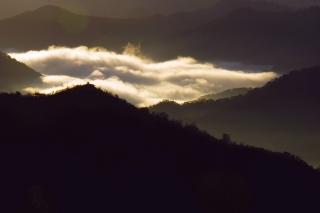 銀山平はまだ雲海の下