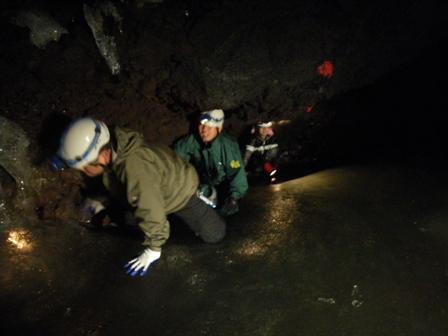 森のたね 富士山田舎暮らし日記 溶岩洞窟1