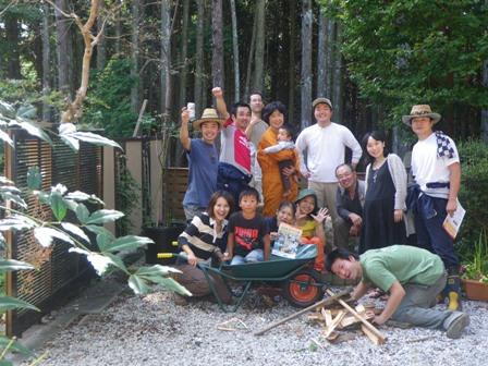 森のたね 富士山田舎暮らし みんなで写真