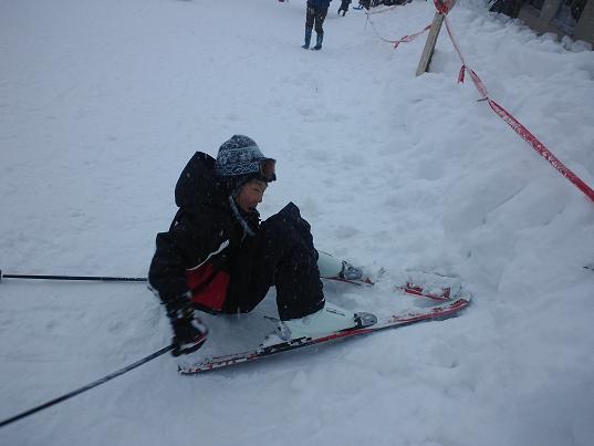 揖斐高原スキー場にて