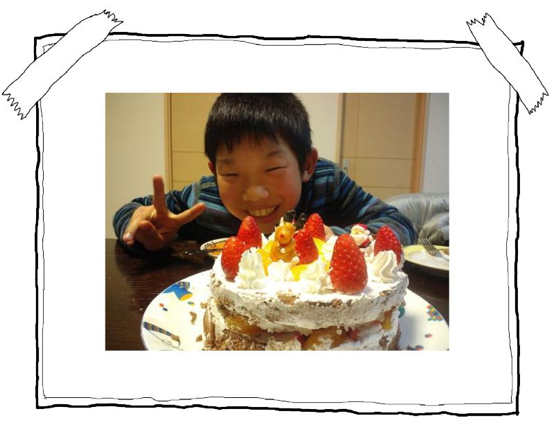 ケーキ完成~♪