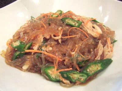 2010_0620料理前菜サツマイモ春雨冷製サラダ