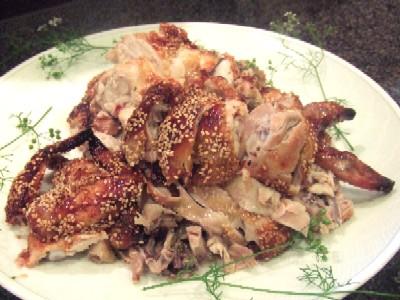 2010_0620料理匠美鶏の丸ごとオーブン焼き取り分け後