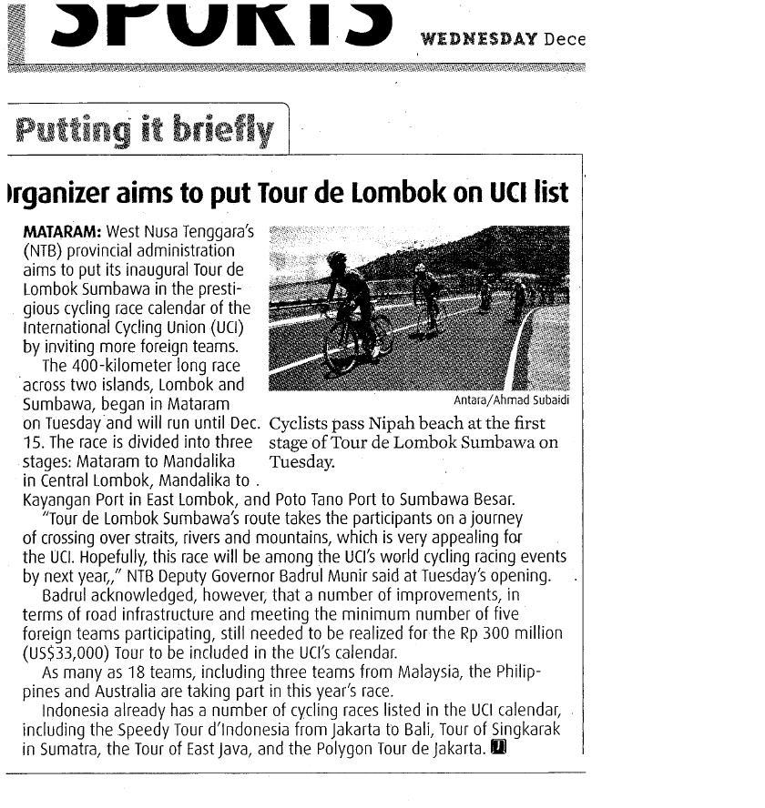 Tour de Lombok