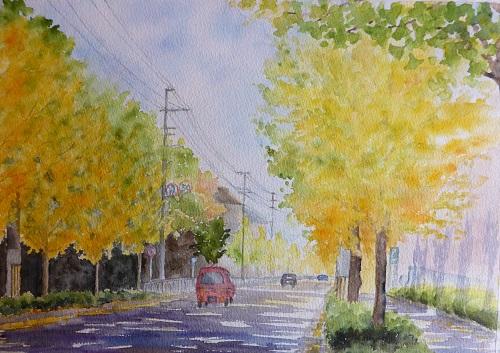 三原の銀杏並木
