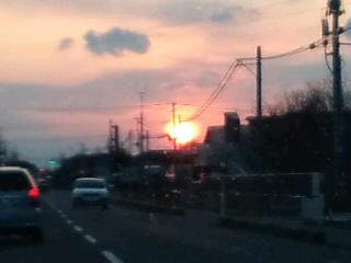 4月の夕日