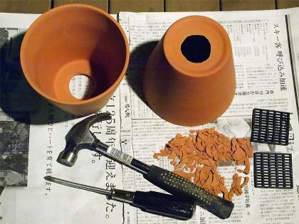 植木鉢の穴