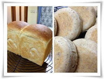 山食と黒こしょうパン