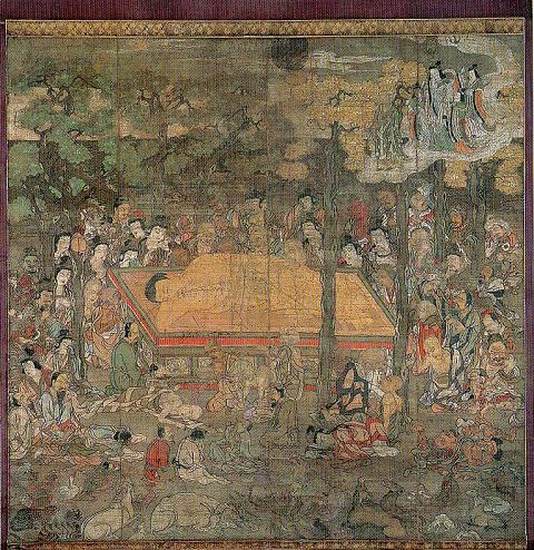 岳林寺絹本着色仏涅槃図