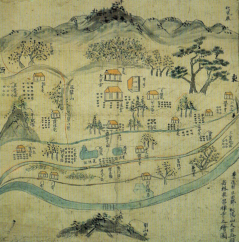 岳林寺古絵図