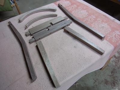 椅子製作中
