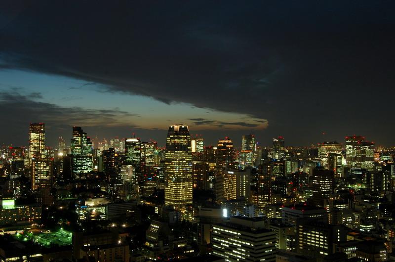 赤坂・新宿方向日没