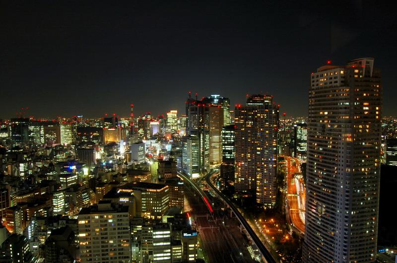 新橋・汐留方向夜