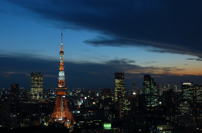 東京タワー日没
