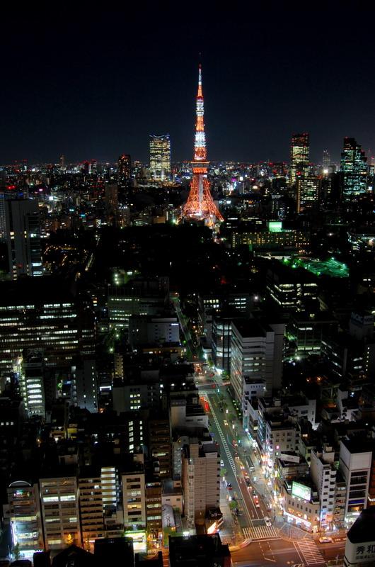 大門通・東京タワー夜
