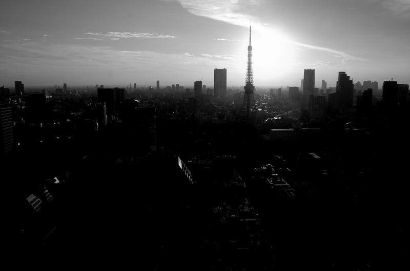 東京タワーシルエット