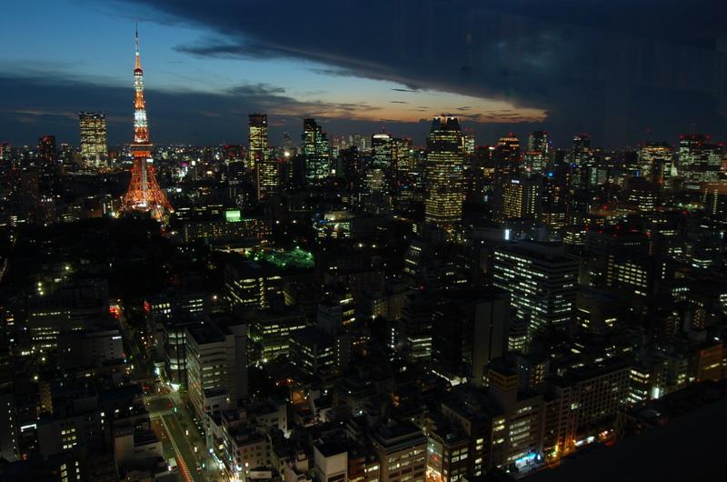 東京タワー・六本木方向日没