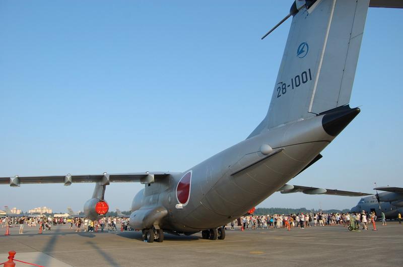 C-1自衛隊輸送機後部