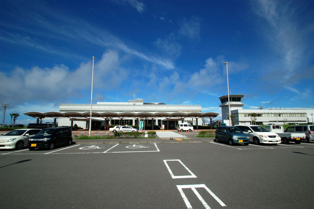 大島空港滑走路
