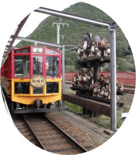 亀岡駅にて