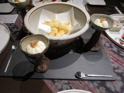 天ぷらとお豆腐
