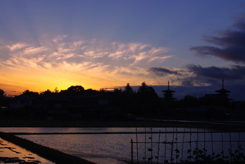 台風一過の夕焼け