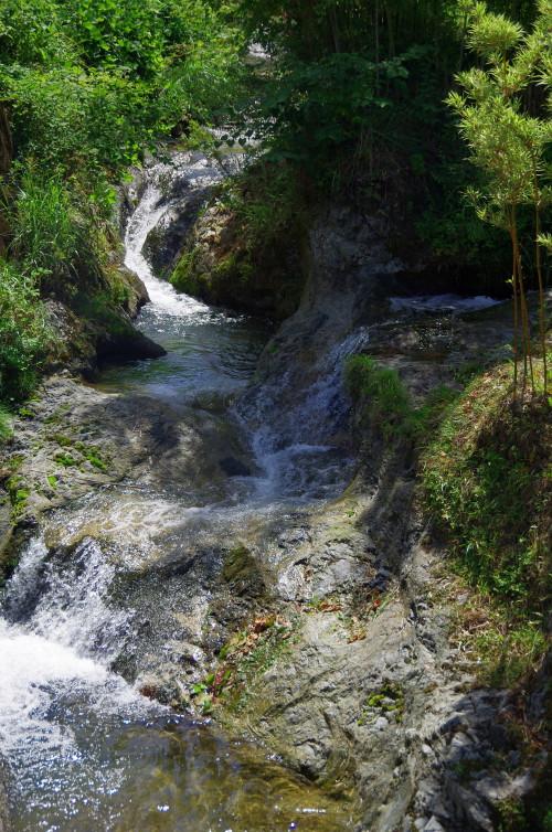 かやのもり 手谷川と行者川