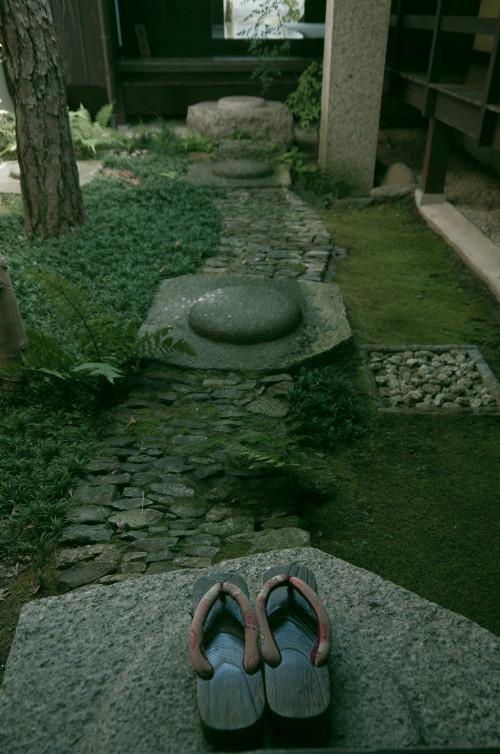 格子の家 中庭