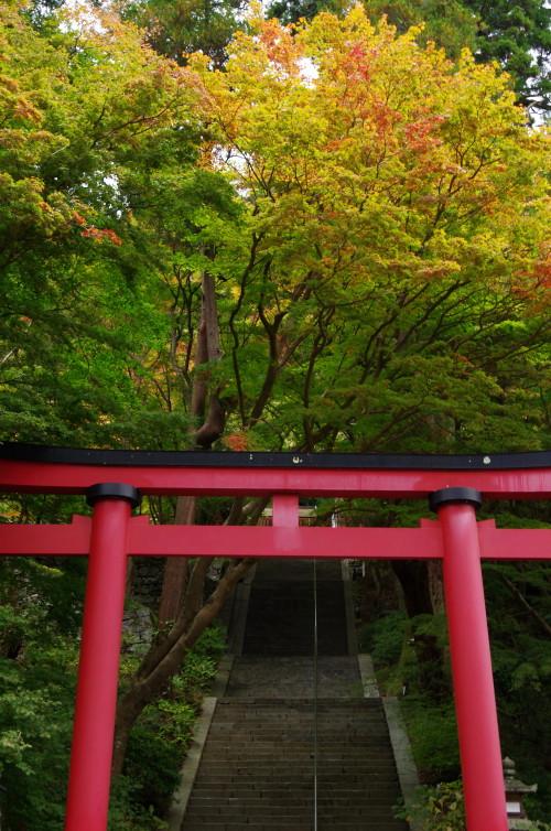 談山神社 紅葉 石段