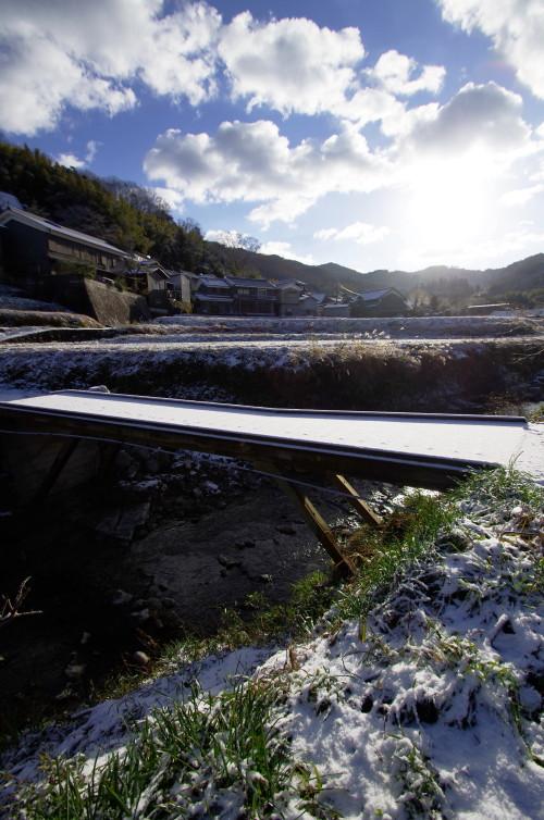 稲淵 橋の雪1