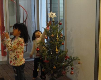 クリスマスツリーのデコレーション2013