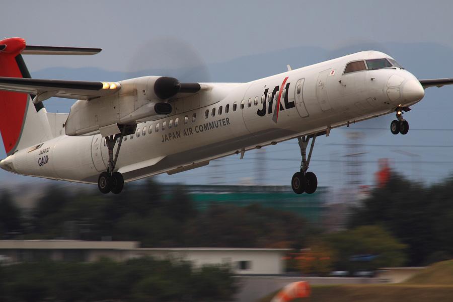 JAC DHC-8-402Q / JAC2403 (JA843C)@下河原緑地展望デッキ