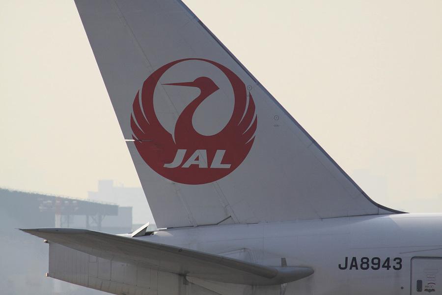 JAL B777-346 / JA8943@下河原緑地展望デッキ