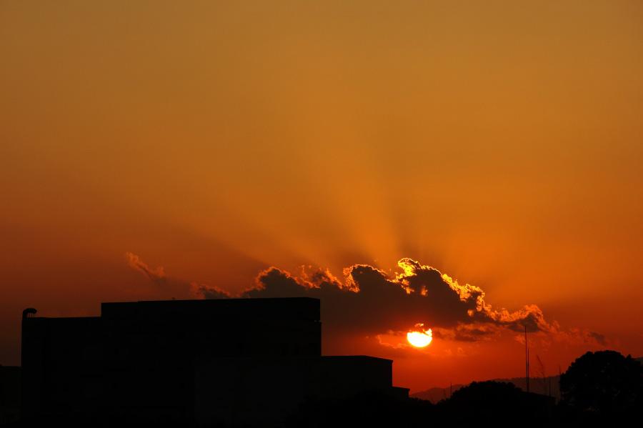 日没直前の黄昏@リサイクルセンター周辺
