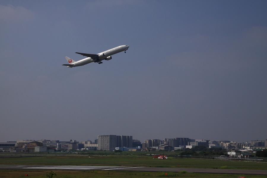 JAL B777-346 / JAL2081 (JA8943)@下河原緑地展望デッキ