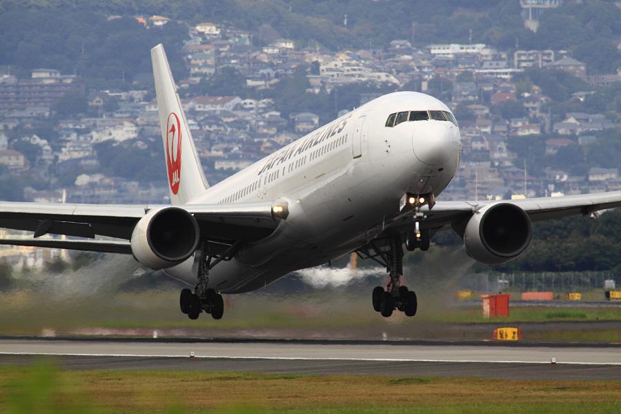 JAL B767-346 / JAL112 (JA8364)@スカイランドHARADA