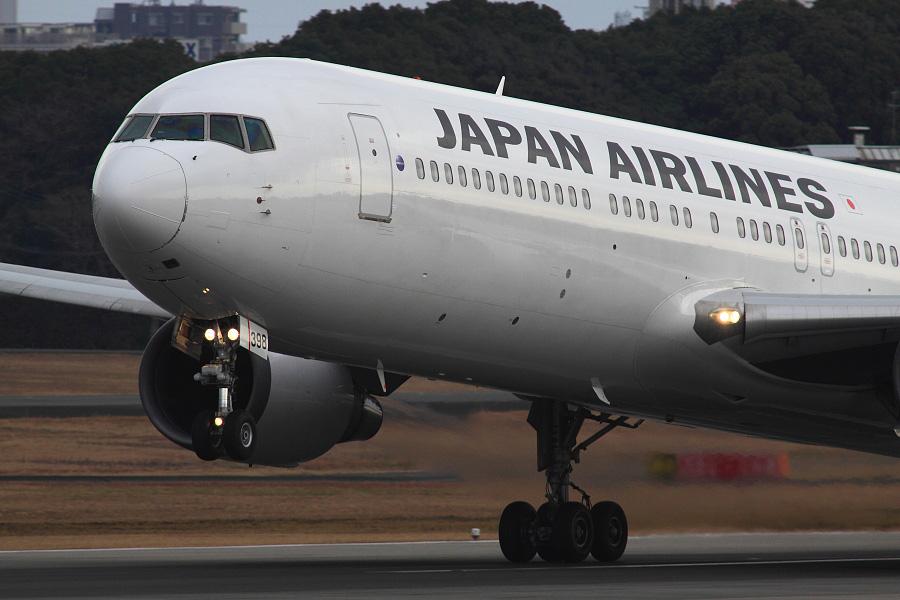 JAL B767-346 / JAL114 (JA8398)@伊丹スカイパーク