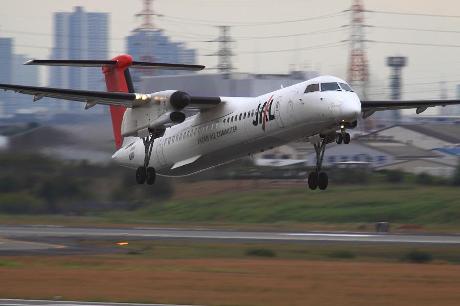 JAC DHC-8-402Q / JAC2453 (JA849C)@下河原緑地展望デッキ