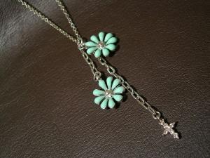 ネックレス(花+クロス)