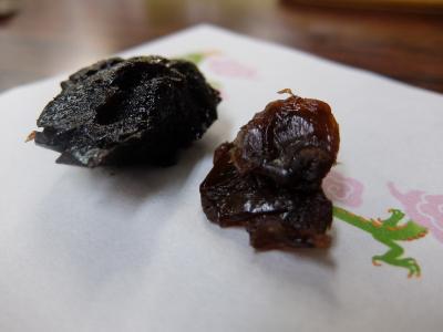 黒ナツメと龍目肉